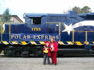 Our First Ride on the Polar Express with the Great Smoky Mountains Railroad, Bryson City, North Carolina, December 2012