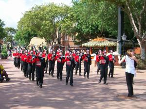 A Marching Band from Ohio, Performing at EPCOT, Disney World, Florida, April 2013
