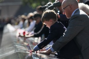 People Remembering at 9/11 Memorial (9)