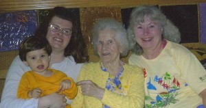 Four Generations of my Family (My Son, Me, Lottie, Anna), 2006
