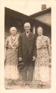 Addie (Prince) Gould and Arnold Gould with Bertha (Gould) Babcock, South Dayton, New York, 1930