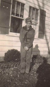 Boy Scout Bruce E. Babcock (Age 11), Collins, NY, September 1954