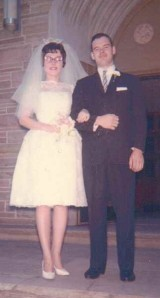 Bruce and Anna (Krakowiak) Babcock Wedding, July 1963, St. Joseph Church, Gowanda, New York