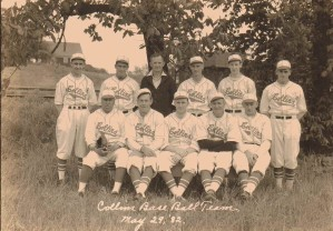 Collins Baseball Team, Collins Center, NY, May 29, 1932 (Charles A. Babcock, Seated, Second from Left)