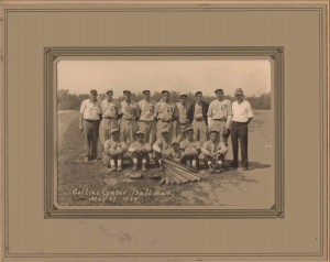 Collins Center Baseball Team, Collins Center, NY, May 20, 1934 (Charles A. Babcock, Standing, Second from Right)