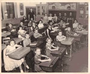 Collins, New York Fourth and Fifth Grade Classes with Marion Dunlap, 1954-1955