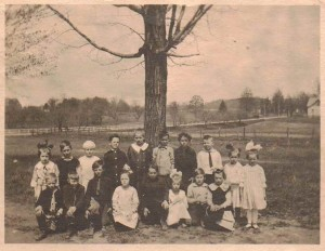 Elementary School Class, Possibly in Collins, New York (Including Charles A. Babcock), 1922