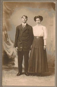 Frank Crawford and Hazel (Gould) Crawford Houston, Jamestown, New York, Circa 1890