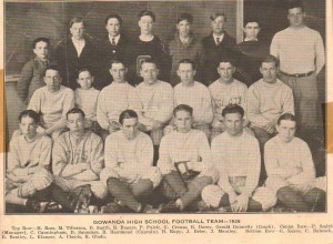 Gowanda High School Football Team, Gowanda, NY, 1926 (With Charles A. Babcock, Front, Second from Left)