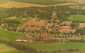 Gowanda Psychiatric Center Aerial View, Helmuth (Gowanda), New York, Circa 1960-1970 By Dexter Press, Inc. (West Nyack, NY) and Aerial Surveys, Henry DeWolf (Rochester, NY)