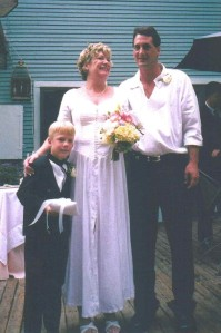 Janet, Mike, and Son, Wedding, Jacksonville, Florida, 2003