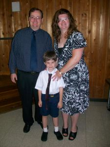 John Nice, Jr., Michele Babcock-Nice, and Son at Kindergarten Graduation, Lilburn, Georgia, 2009