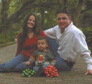 Matt, Brandi (Hunter) and Baby Boy Brown, Tallahassee, Florida, Christmas 2005