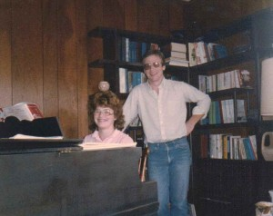 Michele Babcock Taking Piano Lessons from Michael Denea, Perrysburg, New York, 1985