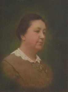 Elizabeth Nice, Mother of Clarence Carter Nice, John Nice Jr.'s Great Great Grandmother (Image on Porcelain), Circa 1900