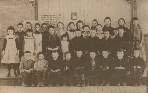 School Class of Jonathan M. Babcock with Miss Barnes, Villenova or South Dayton, New York, Circa 1890