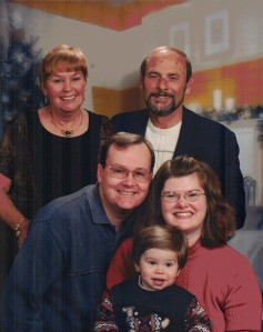 The Nice's and The Bennett's-Michele Babcock-Nice and  John Nice, Jr. and Son, Carol (Martin) Greene Nice Bennett, Arnold Bennett, Christmas 2004