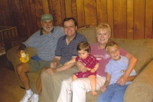 Three Generations of Nice's (Bob, John, Baby, Marilyn, Janet's Son), Lawrenceville, Georgia, 2004