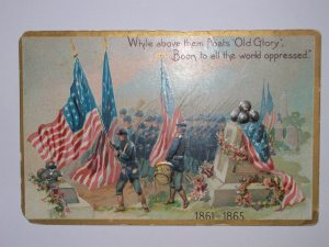Memorial Postcard in Remembrance of the American Civil War, 1861-1865