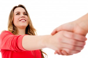 Woman Shaking Hands (Retrieved on June 9, 2014 from http://thefutureofink.com/affiliate-sales-digital-content/)